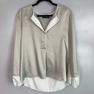 Tahari long sleeve blouse